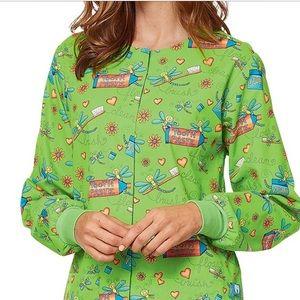 New Nurse Dental floral print Scrubs Warmup jacket